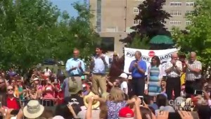 Protesters disrupt Justin Trudeau's speech at PEI strawberry social