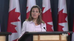Chrystia Freeland calls new U.S. steel and aluminum tariffs 'absurd'