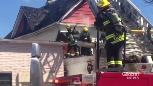Winnipeg fire crews battle house fire in North End