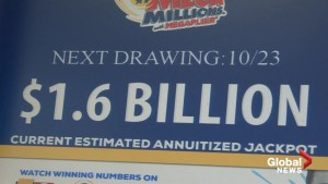 Biggest U.S. lottery jackpot ever is now up for grabs as Mega Millions reaches $1.6 billion