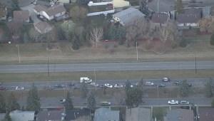 Emergency vehicles fight traffic in Edmonton
