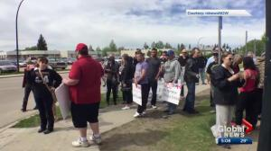 Video of fight sparks protest outside Red Deer school