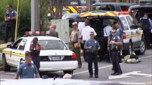 Police respond to scene of shooting at Annapolis newspaper office in Maryland