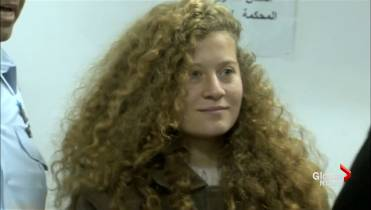 17-year-old Ahed Tamimi who hit Israeli soldiers released