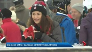 Send-off for Canada's Olympic athletes