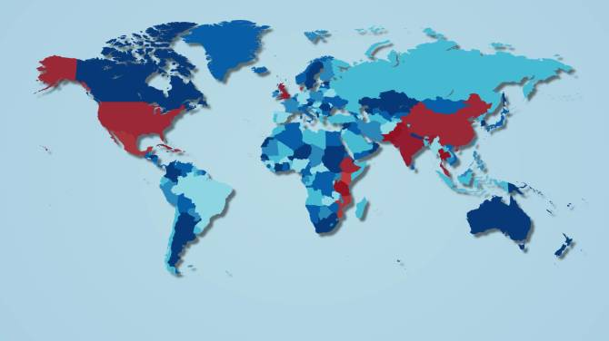 These Maps Show Where Canadas Illegal Drugs Are Coming From - Canada in the world map