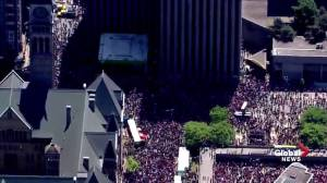 Raptors victory parade: Crowds take over much of downtown Toronto as celebrations continue