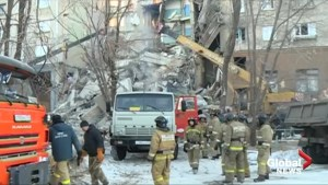 Search underway for survivors after explosion rocks Russian apartment building