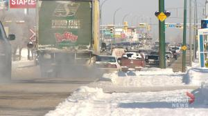 Slippery roads linked to over 100 Regina collisions