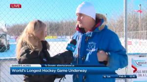 Live weather from the World's Longest Hockey Game at Saiker's Acres