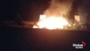 Coquihalla crash fire captured on cell phone video by passing motorist
