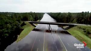 Hurricane Florence: Done footage shows extent of flooding in parts of Carolinas (00:37)