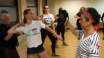 Self-defence instructor teaching women to identify harassment before it turns sexual