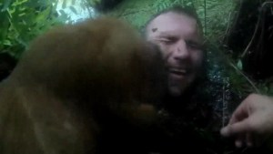 Police body cam captures K-9 licking face of suspect stuck neck-deep in Florida swamp