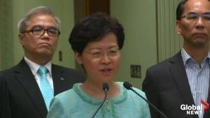 """Carrie Lam says violent protests are causing """"huge damage"""" to Hong Kong's economy"""