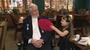 Bowmanville girl forges friendship with a veteran