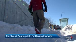 Calgary city council approves more money for clearing sidewalks