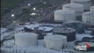Aerial footage shows burnt-out remnants of Texas refinery following days-long fire