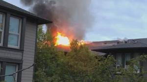 Fire forces evacuation of North Vancouver apartment complex