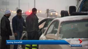 Calgary police respond to almost 30 accidents during snow storm