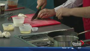 Talking garlic in the Global Edmonton kitchen with Sorrentino's