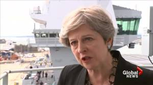 Theresa May says Donald Trump must condemn dangerous right-wing groups