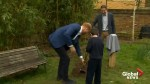 Prince Harry plants trees with school children in London