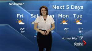 Mix of sun and cloud for Friday, risk of thunderstorms Saturday