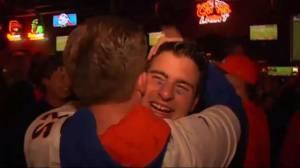 Denver Broncos fans celebrate Super Bowl 50 victory