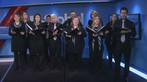 The Ecco Singers perform on Global News Morning Winnipeg