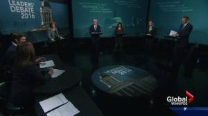 Manitoba Election Debate: Party leaders answer questions about healthcare (07:08)