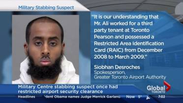 Once Clearance Globalnews Had ca Restricted Security Stabbing Airport Suspect