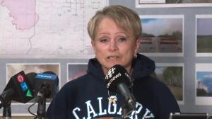 High Level Mayor Crystal McAteer says wildfire evacuation remains