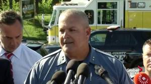 Police provide update on shooting at office housing newspaper, say possible explosive device removed
