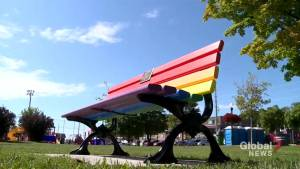 Scugog unveils rainbow bench in support of LGBTQ2 community