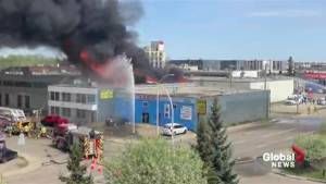 Fire at west Edmonton commercial building