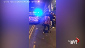 Emergency personnel arrive at Manchester arena after explosions inside
