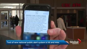 Test of new national public alert system is hit and miss