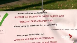 Montreal elections 2017: Baie d'Urfé resident wants sound wall