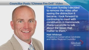 Halifax councilor Matt Whitman calls his 'Chinese fire drill' video a 'distraction'