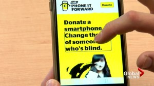 Donated cellphones helping the blind