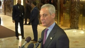 Rahm Emanuel says he and Donald Trump spoke about immigration