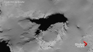 Rosetta space probe's last images were of its own grave, ESA footage shows
