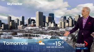 Edmonton weather forecast: Sunday, November 19, 2017