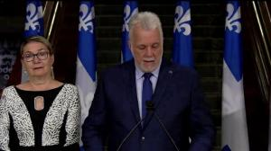 Philippe Couillard talks about immigration