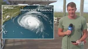 Hurricane Florence: Storm weakens as it carves path toward U.S. coast