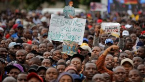 People march against Mugabe days after military seizes control in Zimbabwe