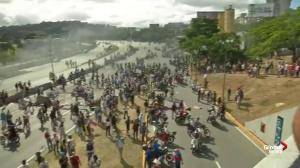 Police clash with anti-Maduro protesters in Venezuela