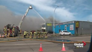 Commercial building fire in west Edmonton