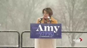 'Enough is enough': Sen. Amy Klobuchar throws hat into 2020 presidential ring